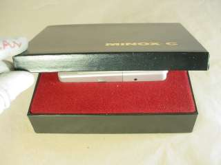 MINOX C MINITURE SPY CAMERA W/ ORIGINAL BOX 76783016996
