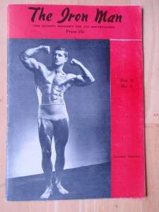 IRONMAN bodybuilding muscle mag/Fraysher Ferguson 1948