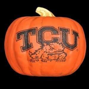 TCU Horned Frogs Resin Pumpkin (Small)