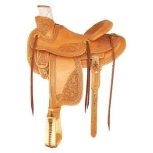 Tex Tan Camden Rancher Saddle 16In Russet