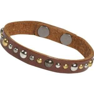 Dillon Rogers Studded Leather Bracelet (Distressed Brown) Jewelry