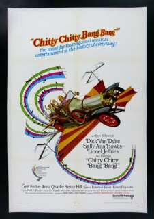 CHITTY CHITTY BANG BANG * MOVIE POSTER AUTO CAR ANTIQUE