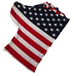 Sommer Shirt T Shirt Top Oberteil Stars and Stripes USA Amerika Flagge