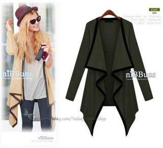 Korean Fashion Womens Casual Buttonless Knit Top Cardigan XS M H1552