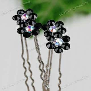 50pcs Mixed Random Crystal Rhinestone Flower Bridal Lady Hair Pin Hair