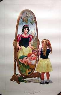 1987 Snow White 50th Anniv Walt Disney Print C Boyer
