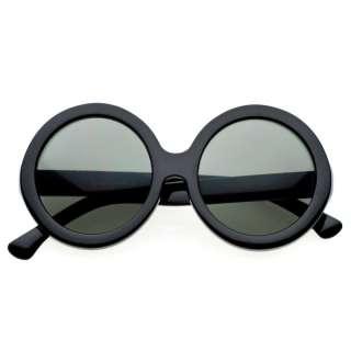 Super Oversize Large Round Circle Sunglasses Black 8045