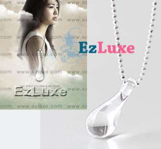 Korean Drama 49 days Teardrop Necklace Love Tear Drop Fantasy Romance