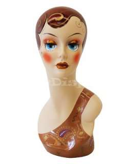 Mannequin Head Bust Wig Hat Jewelry Display #VF003