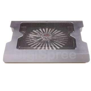 NEW One Big Fan LED Light Laptop Cooling Cooler Pad Stand Translucent