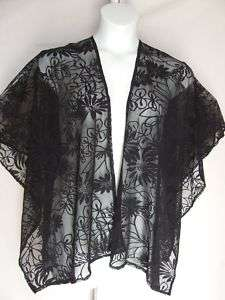 Ruana Style Shawl #1186, NEW, Sheer Burn Out Design