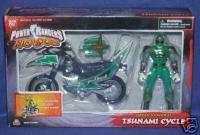 Power Rangers Ninja Storm Green Samurai Cycle w Ranger
