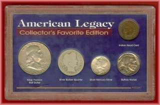 Collectors Favorite American Legacy 5 Coins 90% Silver