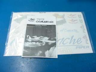Seagull Piper Twin Comanche 46 ARF R/C RC Airplane Kit Civilian SEA134