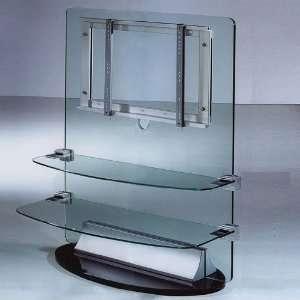 Crystalic Wall Design Glas Heimkino Rack für LED/LCD/Plasma TVs