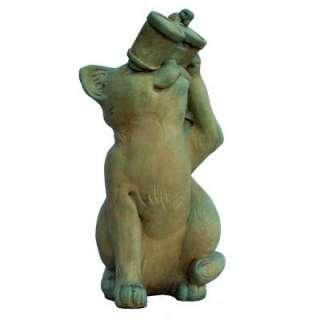 Cast Stone Birdwatching Cat Garden Statue, Weathered Bronze GNCBW WB