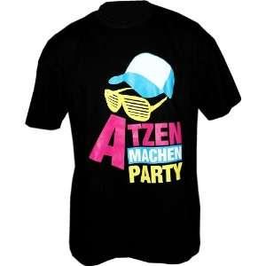 Atzen machen Party Design2 T Shirt Schwarz Gr.L  Sport