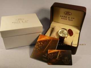 MAGNIFICENT MENS WATCH HAAS & CIE GOLD / STEEL / CHRONOGRAPH / NEW