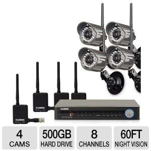 Lorex LH118501C4WB Digital Wireless Security Camera System   8 Channel
