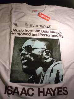 Supreme Isaac Hayes Tee T Shirt Lou Reed White L