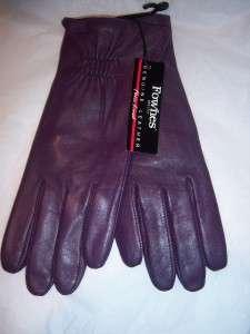 Purple Superb Ladies Fownes Leather Gloves,XLarge