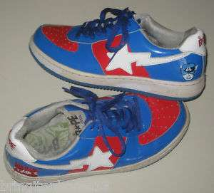 2005 BapeSta Marvel Comic Captain AMERICA SHOES 9 BAPE