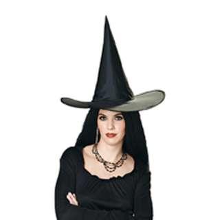 Taffeta Womens Black Witch Halloween Hat