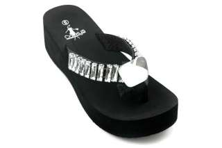a743783d0526 Womens Corkys Dominique Clear Jewels Black Bling Flip Flops on PopScreen