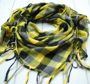 special offer:Man/Woman scarf attire:10 colour COTTON grid