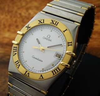 BEUTIFUL OMEGA CONSTELLATION 18K SOLID GOLD BEZEL QUARTZ MENS Watch