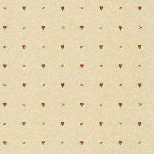 The Wallpaper Company 56 sq.ft. Red Gingham Hearts Wallpaper WC1281101