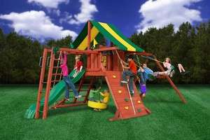 OUTDOOR GORILLA PLAYSET SUN VALLEY II SWINGSET WITH MONKEY BARS