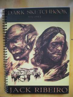 JACK RIBEIRO Dark Sketch Book Vol.3 Tattoo Flash book 11