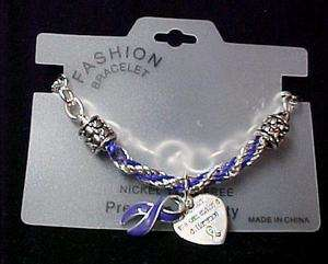 Purple Pancreatic Cancer Awareness Link Bracelet New