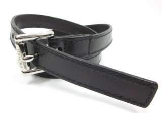 MICHAEL MICHAEL KORS Mens Black Leather Belt Sz S