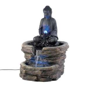 LARGE BIG 2 HINDU THAI BUDDHA STATUE COLOR CHANGING LED LIGHT OUTDOOR