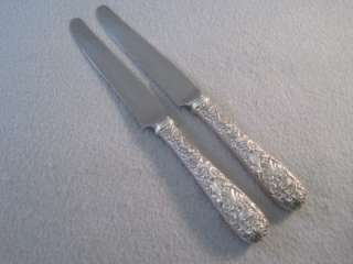 Dinner Knives Kirk & Son REPOUSSE Sterling Silver 8 3/4 ~