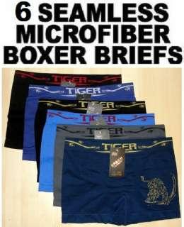 Mens MICROFIBER BOXER BRIEFS Underwears Spach 3925 TIGER