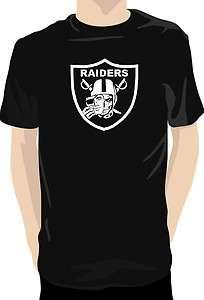 Oakland Raiders SKULL Custom Made T SHIRT