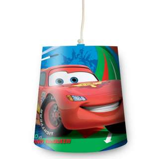 DISNEY CARS 2 TAPERED LIGHT LAMP SHADE NEW