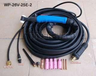 WP 26V 25E 2 SR 26 TIG welding Valve torch Body 200Amp