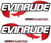 EVINRUDE Outboard Canada flag lUnifolié decal set 14