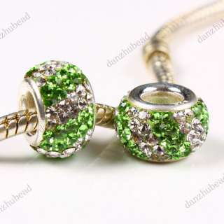 DOUBLE LINE SWAROVSKI CRYSTAL AUTHENTIC 925 STERLING SILVER EUROPEAN