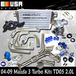 2004 2009 Mazda 3 Turbo Kits TD05 16G GX GT GS 2.0L 2.3LNEW@@