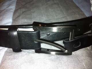 NEW WITH TAG BLACK TUMI REAL LEATHER MEN BELT 36 / 90 $185