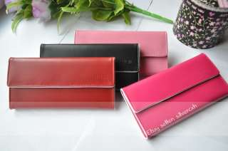 Womens Girls Elegance Wallet Clutch Purse PU Leather Long Style