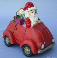 Santa Claus Christmas Ornament Volkswagen Beetle Bug