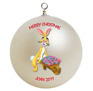Personalized Winnie the Pooh Rabbit Christmas Ornament