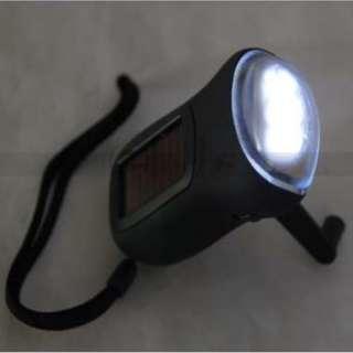LED Solar Powered Hand Crank Dynamo Flashlight Torch