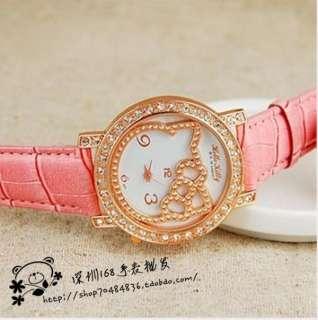 2012 New Stylish HelloKitty Girls women Quartz wrist watch 5pcs/lot